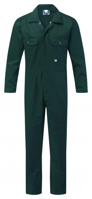 Fort Stud Front One-Piece Mechanics Coveralls Green (Various Sizes)