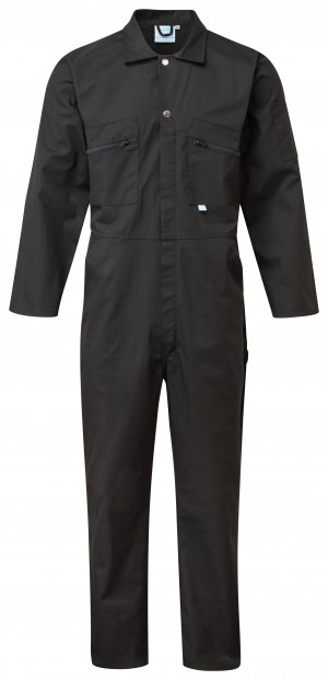 Fort Full Zip One-Piece Mechanics Coveralls Black (Various Sizes)
