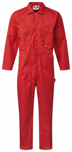 Fort Full Zip One-Piece Mechanics Coveralls Red (Various Sizes)