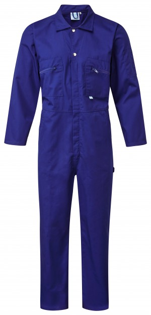 Fort Full Zip One-Piece Mechanics Coveralls Royal Blue (Various Sizes)
