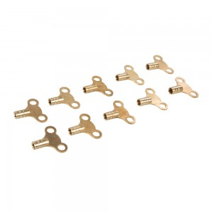 Dickie Dyer Brass Clock-Type Radiator Bleed Keys (Pack of 10)