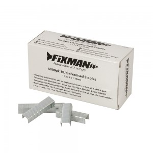 Fixman Heavy Duty 10J Galvanised Staples Pack of 5000 (Various Sizes)
