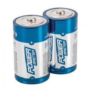 PowerMaster D-Type Super Alkaline Batteries LR20 (Pack of 2)