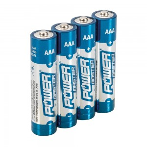 PowerMaster AAA Super Alkaline Batteries LR03 (Pack of 4)