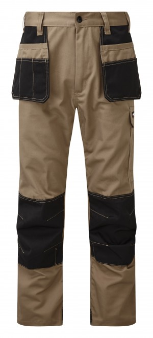 Tuffstuff Excel Trade Work Trousers Stone Brown (Various Sizes)
