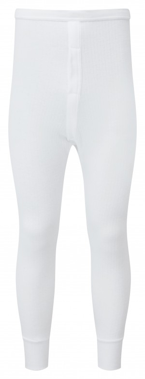 Fort Thermal Baselayer Long Johns Bottoms White (Sizes S-XXL)