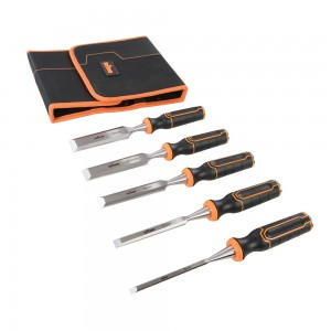 Triton TWCS5 Wood Chisel Set with Chrome Vanadium Blades - 6, 12, 19, 25 & 32mm (5 Piece)
