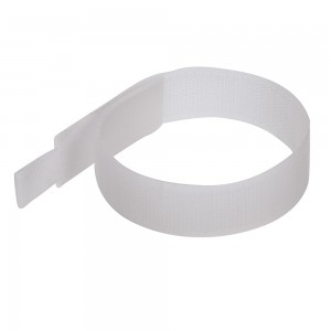 Fixman Multi-Use Nylon Hook & Loop Cable Ties White Pack of 10 (150 x 25mm)