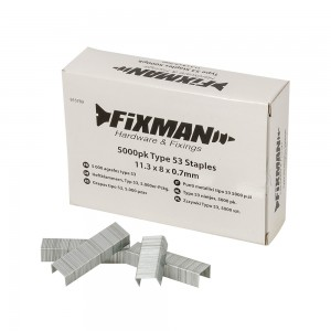 Fixman Type 53 Fine Wire Staples Pack of 5000 (Various Sizes)