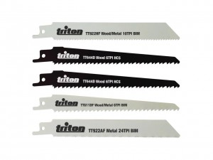 "Triton Reciprocating Saw Wood / Metal Blade Set 150mm x 1/2"" (Pack of 5)"