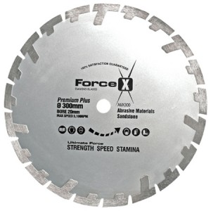Force-X AMX300 Premium+ Abrasive Diamond Blade 300mm