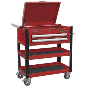 Sealey Heavy Duty Mobile Tool & Parts Trolley 2-Drawer (Various Colours)