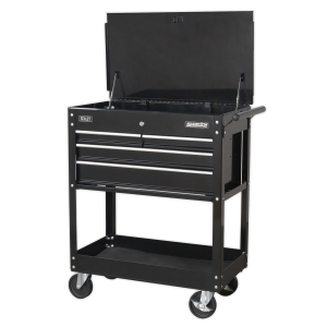 Sealey Heavy Duty Mobile Tool & Parts Trolley 4-Drawer Black