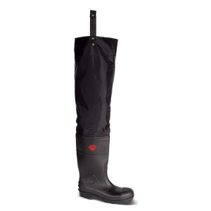 V12 Vital Avon Thigh Wader Safety Boots Black (Sizes 6-12)