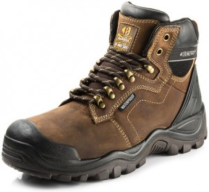 Buckler BSH009BR Waterproof Anti-Scuff Safety Work Boots Brown (Sizes 6-13)