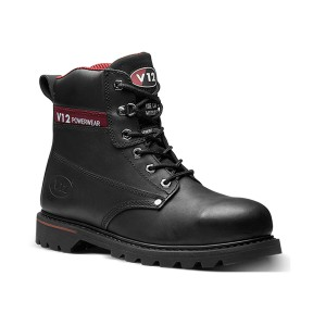 V12 Boulder Safety Work Boots Black (Sizes 4-16)