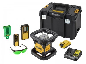 DeWalt DCE079D1G Cordless 18v Green Beam Rotary Laser Level Kit & 2.0Ah Li-Ion Batt