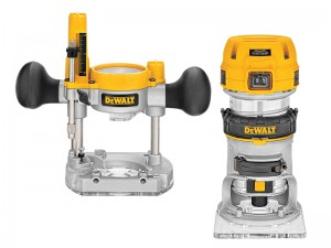 DeWalt D26204K 900w Premium Plunge & Fixed Base Combi Router 1/4in 240v