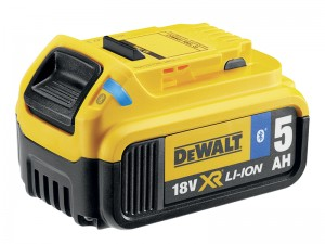 DeWalt DCB184B XR 18v Bluetooth Slide Battery Li-Ion 5.0Ah