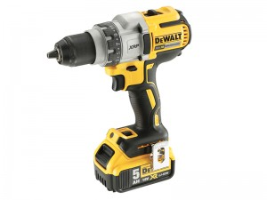 DeWalt DCD991P2 Cordless 18v Brushless 3-Speed Drill Driver & 2 x Li-Ion 5.0Ah Batts