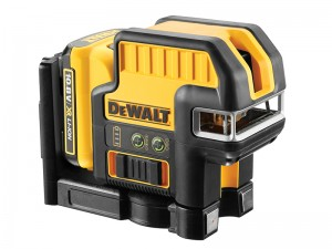 DeWalt DCE0825D1G Cordless 10.8v Green Beam 5 Spot Cross Line Laser Level & 2.0Ah Li-ion Batt