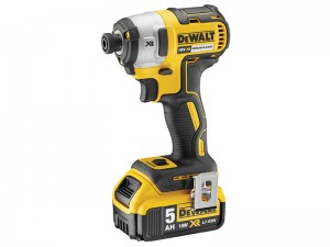 DeWalt DCF887P2 XR Cordless 18v Brushless 3 Speed Impact Driver & 2 x Li-Ion 5.0Ah Batts