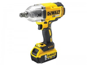 DeWalt DCF899P2 XR Cordless 18v Brushless High Torque Impact Wrench & 2 x Li-Ion 5.0Ah Batts