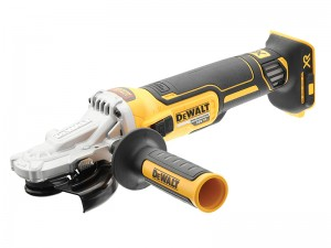 DeWalt DCG405FN XR Cordless 18v Brushless Flat Head Grinder 125mm Bare Unit