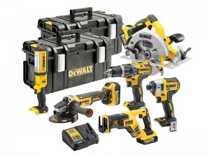 DeWalt DCK623P3 XR Cordless 18v Brushless 6-Piece Powertool Kit With 3 x Li-Ion 5.0Ah Batts