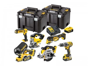 DeWalt DCK665P3T XR Cordless 18v Compact 6-Piece Wood Working Powertool Kit With 3 x Li-Ion 5.0Ah Batts