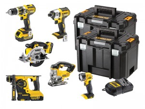 DeWalt DCK699M3T XR Cordless 18v Compact 6-Piece Powertool Kit With 3 x 4.0Ah Li-Ion Batts