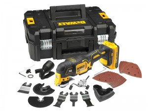 DeWalt DCS355D2 XR Cordless 18v Brushless Oscillating Multi-Tool & 2 x Li-Ion 2.0Ah Batts