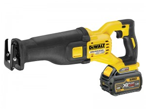 DeWalt DCS388T2 FlexVolt XR Cordless 18/54v Reciprocating Saw & 2 x Li-Ion 6.0/2.0Ah Batts