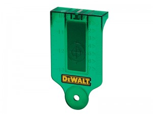 DeWalt DE0730G Green Beam Laser Level Target Card