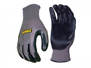 DeWalt Safety Nitrile Nylon Gloves Grey & Black