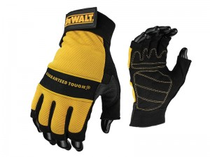 DeWalt Fingerless Leather Palm Work Gloves