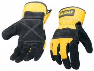 DeWalt Safety Rigger Gloves Reinforced Leather Palms