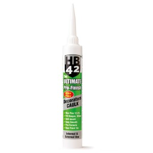 HB42 Ultimate Pro Finish Max Flex Decorators Caulk 380ml Cartridge