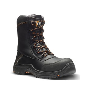 V12 Defiant Lightweight Safety Work Boots Black (Sizes 3-13)