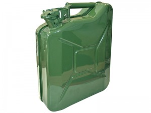 Faithfull 10L Jerry Can Fuel Container Green