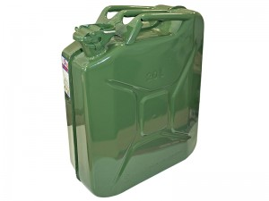 Faithfull 20L Jerry Can Fuel Container Green