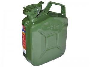 Faithfull 5L Jerry Can Fuel Container Green