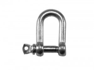 Faithfull Chain D-Shackle 8mm Zinc Plated Pack of 4