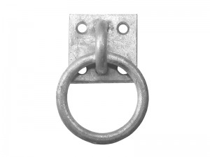 Faithfull Chain Ring On Plate Galvanised Steel