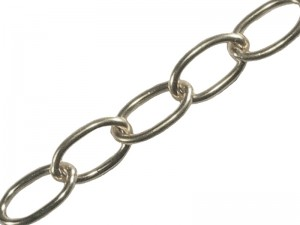 Faithfull 10m Chrome Oval Chain (Various Sizes)