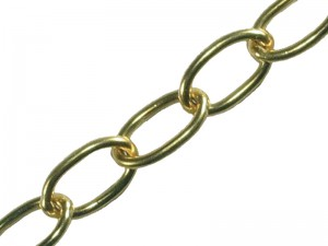 Faithfull 10m Brass Oval Chain (Various Sizes)