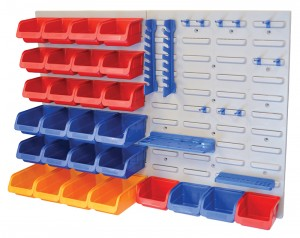 Faithfull 43-Piece Storage Bin Set With Wall Panels