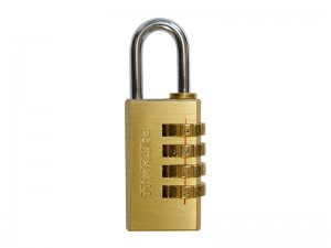 Faithfull Brass Combination Padlock (Various Sizes)
