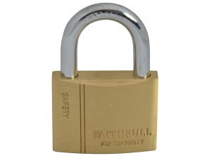 Faithfull Brass Padlock With 3 Keys 50mm