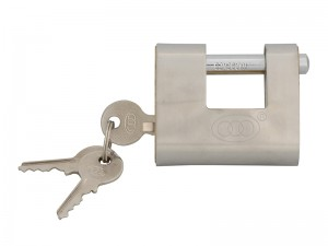 Faithfull Brass Shutter Padlock With 3 Keys (Various Sizes)